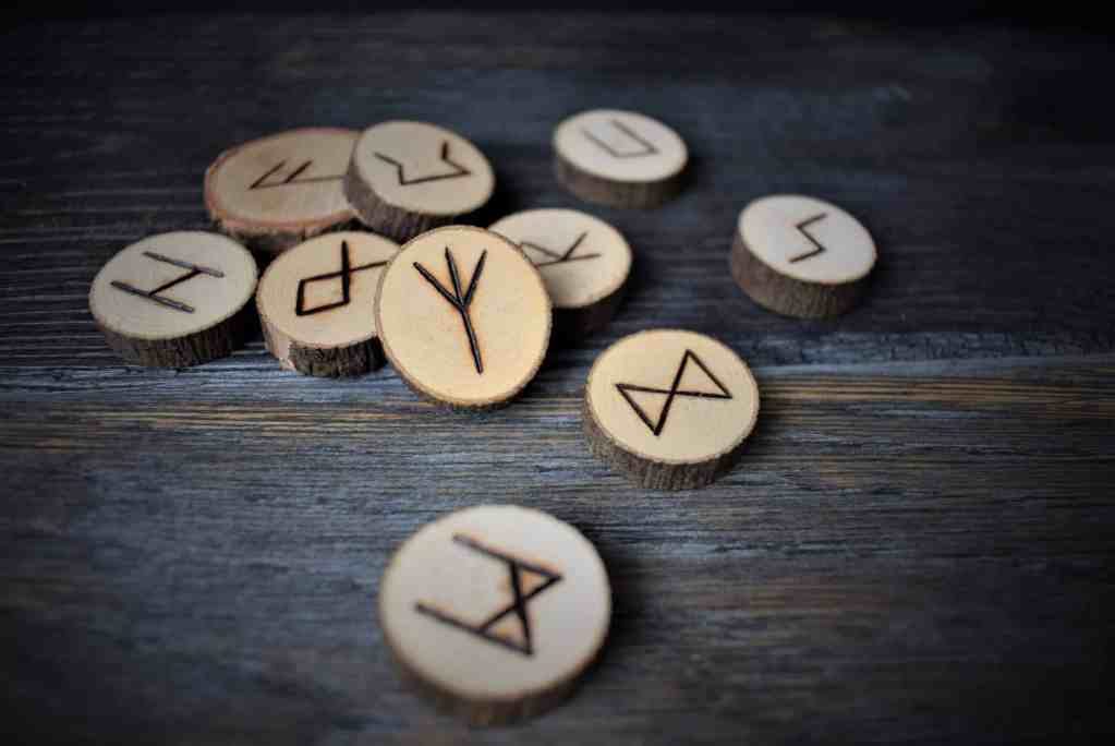 DIY rune set using wood