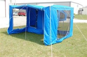 Time Out Trailers | Wrap Around camper screen room
