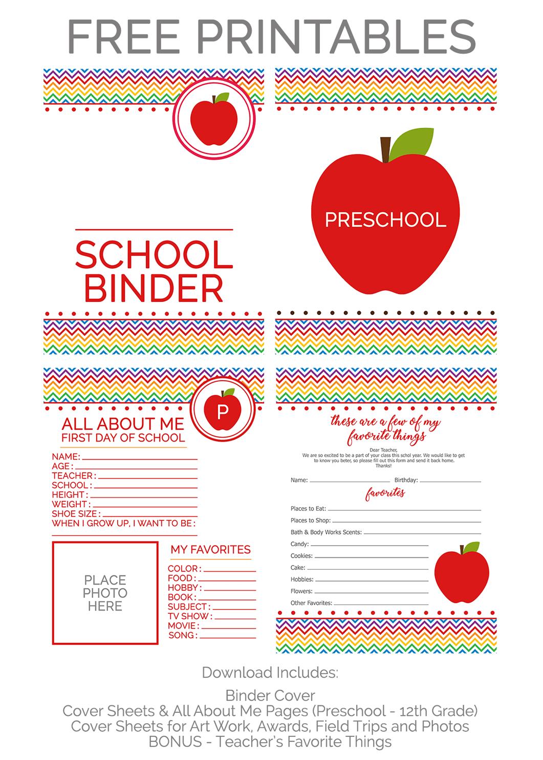 Back To School Memory Binder With Free Printables Preschool