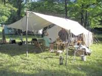 Mountain Man Tents & Rain On A Canvas Tent