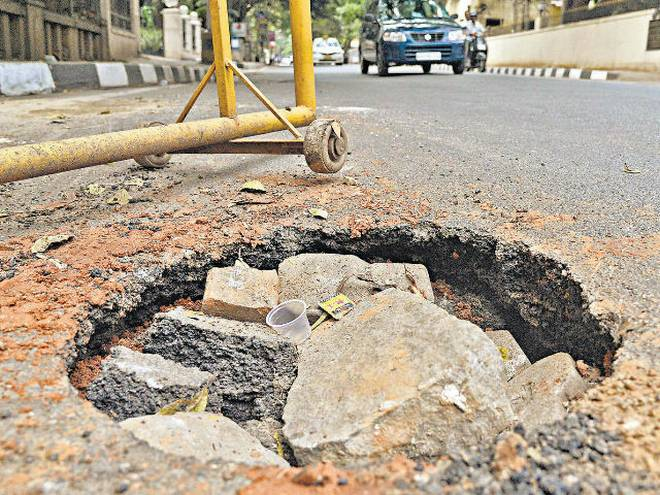 bangalore potholes