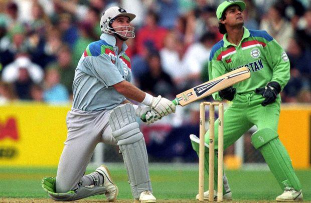 Martin Crowe in 1992 World Cup Cricket Semi Final