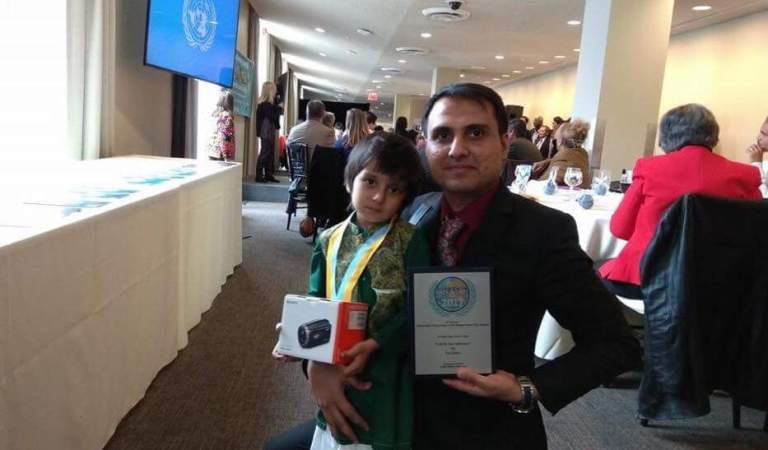 5-year-old Child from Pakistan Wins Global Award
