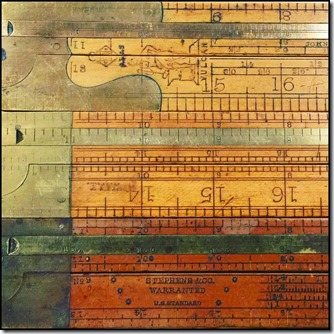 two-foot, two-fold carpenters slide rules