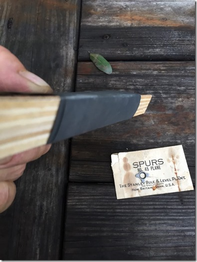 Stanley #45/55 Spur sharpening