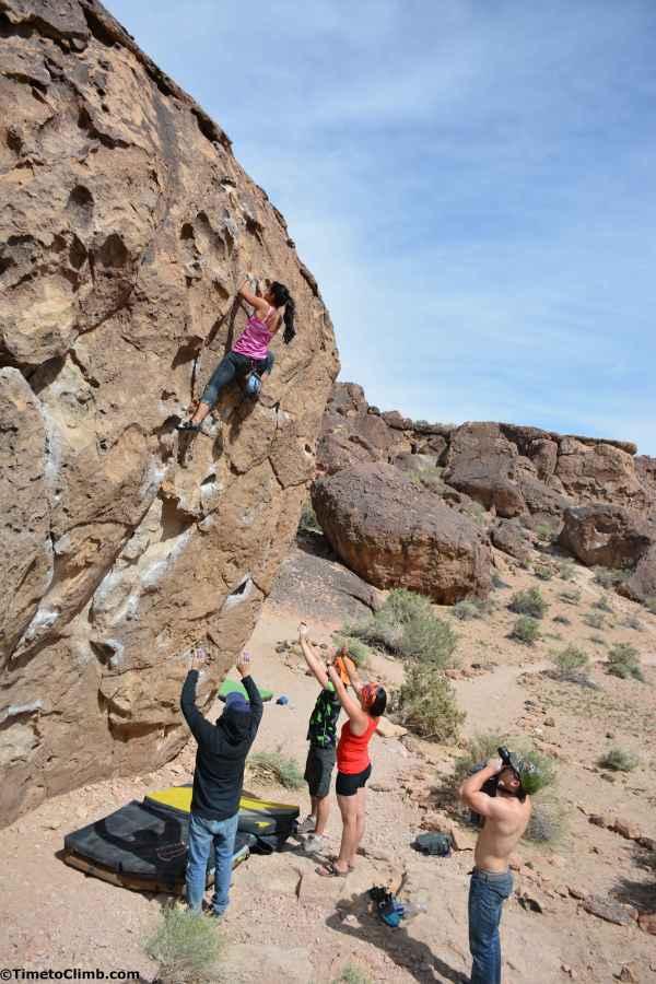 Boulder Climbing Bishop CA