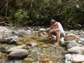 Martin beim Goldwaschen