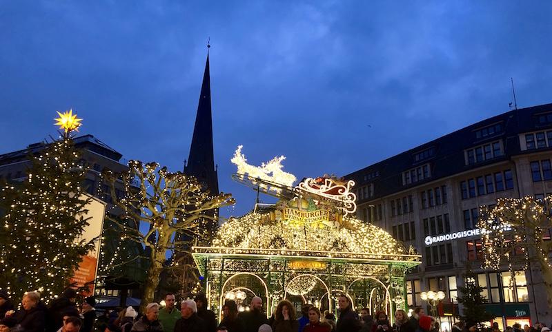 Rathaus Kerstmarkt Hamburg
