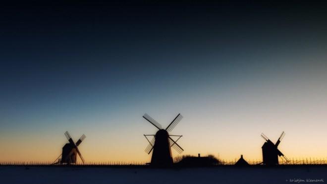 Angla tuulikud, Saaremaal