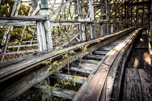 Нара Dreamland, заброшенный тематический парк, Нара, Япония спуск с американских горок