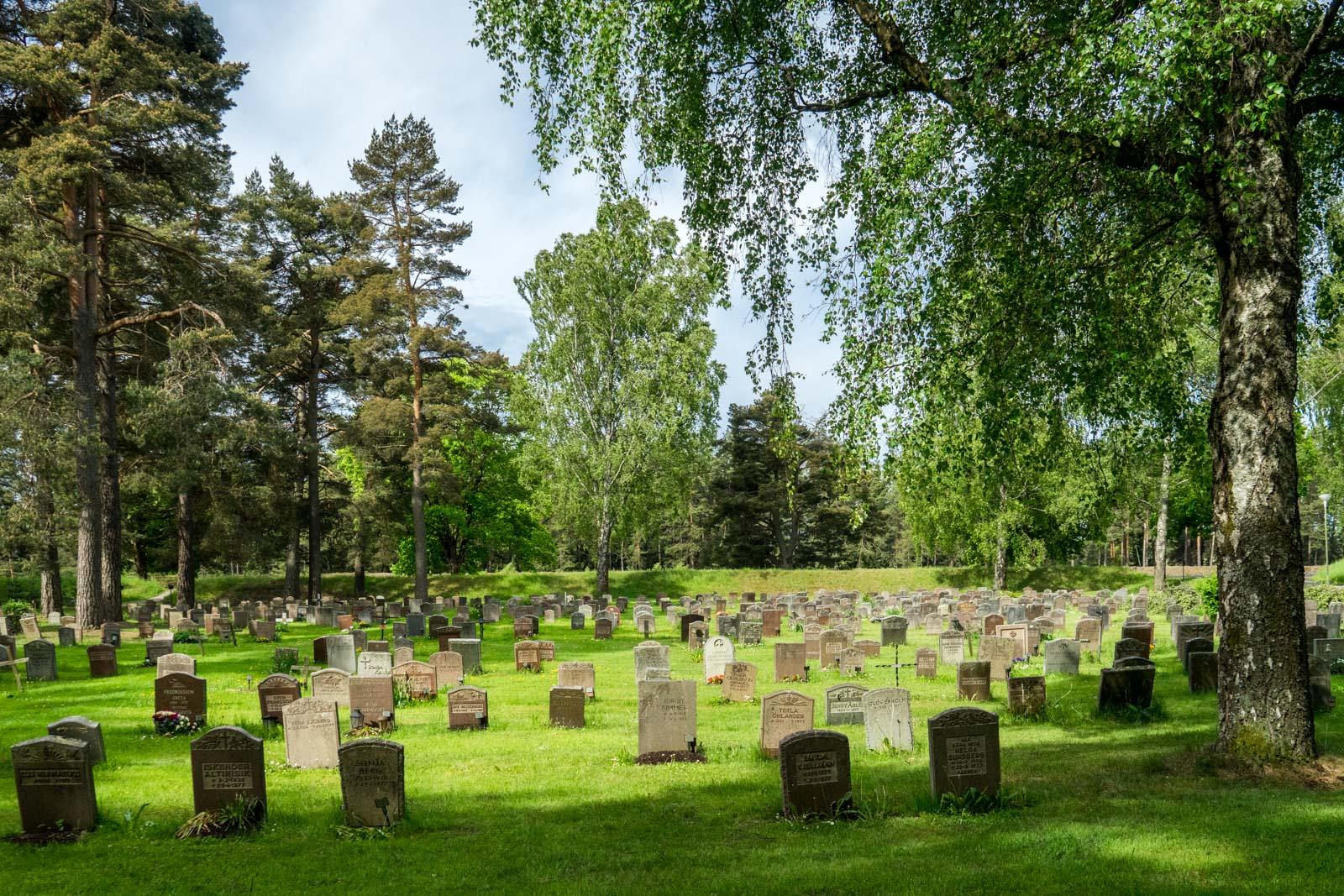 Skogskyrkogarden The Woodland Cemetery in Stockholm Sweden