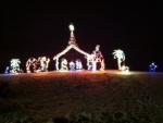 lights, nativity, Jesus