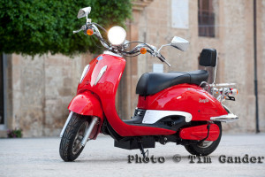 commercial photo of electric scooter in sicily