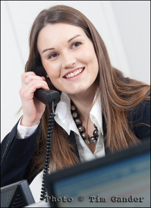 call centre staff on telephone