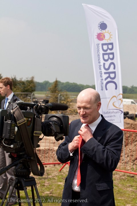 David Willetts MP about to be interviewed for television