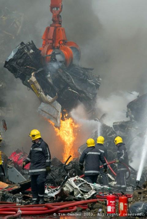 scrap yard fire in Portsmouth