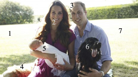 kate and william official baby photo