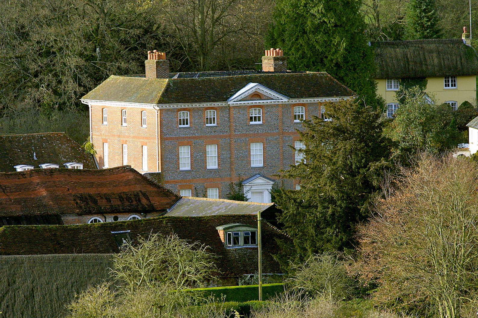 Exterior of Netherton House, Hampshire, for News of the World