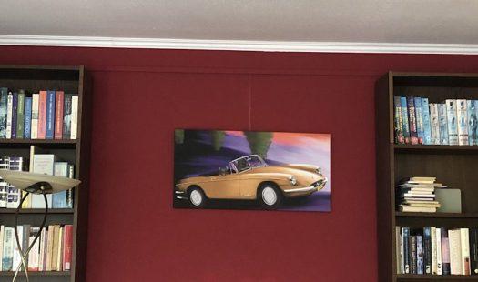 Cruisin' (Ferrari GTS 365, 1969) on the wall