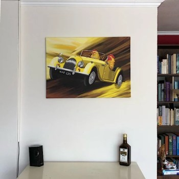 Fearless (Morgan Plus 4, 1956) on the wall