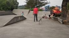 Cobby et Timi au skatepark de Kaikoura