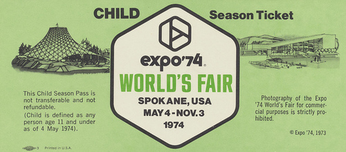 Expo 74 Ticket