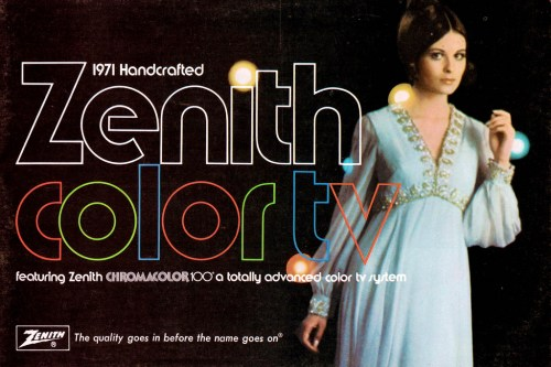 Zenith Catalog Cover
