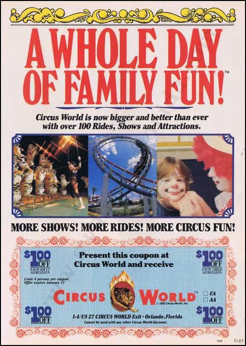 Circus World ad