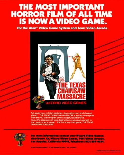 Texas Chainsaw Massacre ad
