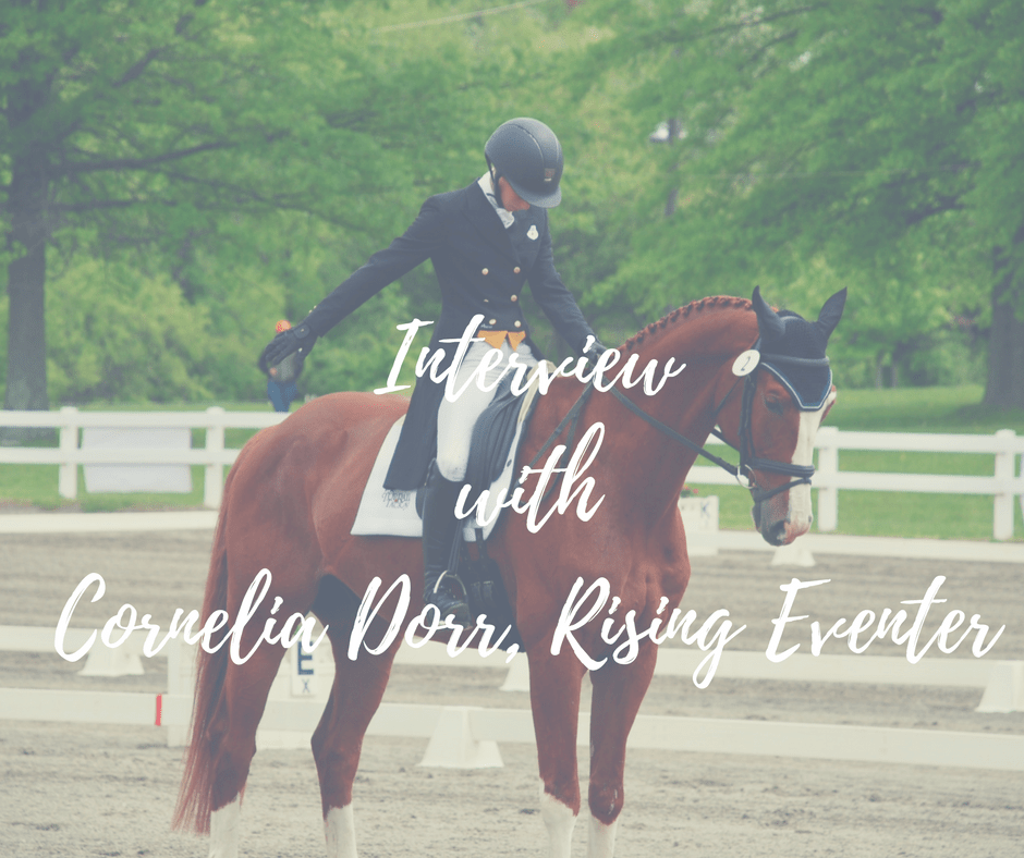 Interview with  Cornelia Dorr, Rising Eventer