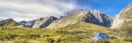 Panoramic view of Mt MacDonald, Yukon