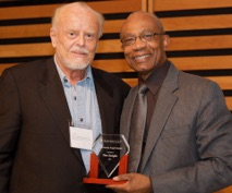 """Tim received a 2012 Innoversity Angel Award for """"an outstanding role in making the media more accessible to persons with disabilities, Aboriginal media professionals, people of colour"""" from Innoversity co-founder Hamlin Grange."""