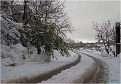 Ighil Bougueni - Neige au village en 2011 (3) - Salem Mezaib