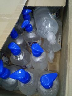Gel hydroalcoolique : 200 flacons de 500 ml et 20 flacons de 1L