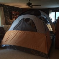 TimLybarger.com: Day 33: Living Room Tent, Searching for Cups