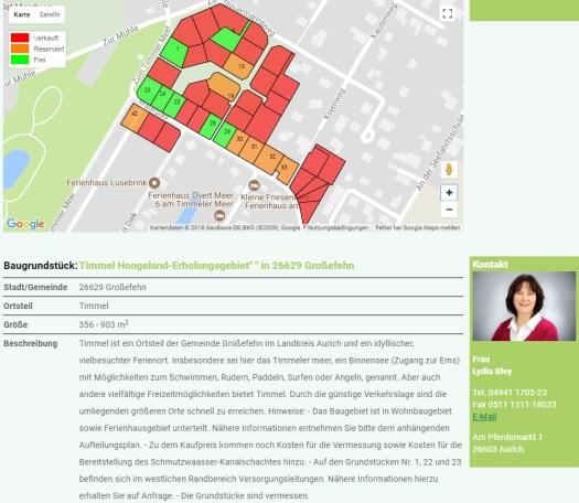 Baugebiet Alter Sportplatz in Timmel (Stand: 20.01.2018)