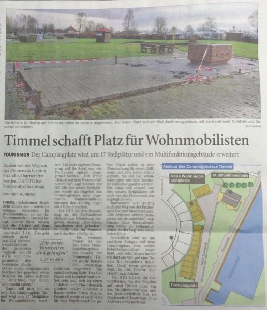 Pressebericht: Wohnmobilstellplätze im Hafen