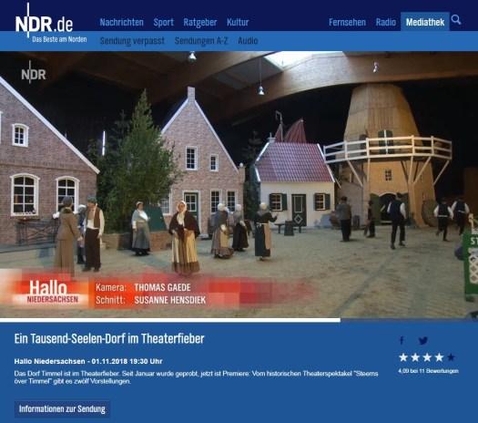 NDR Hallo Niedersachsen: Steerns över Timmel