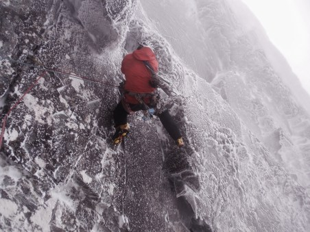 Supposed crux bit on The Brass Monkey...