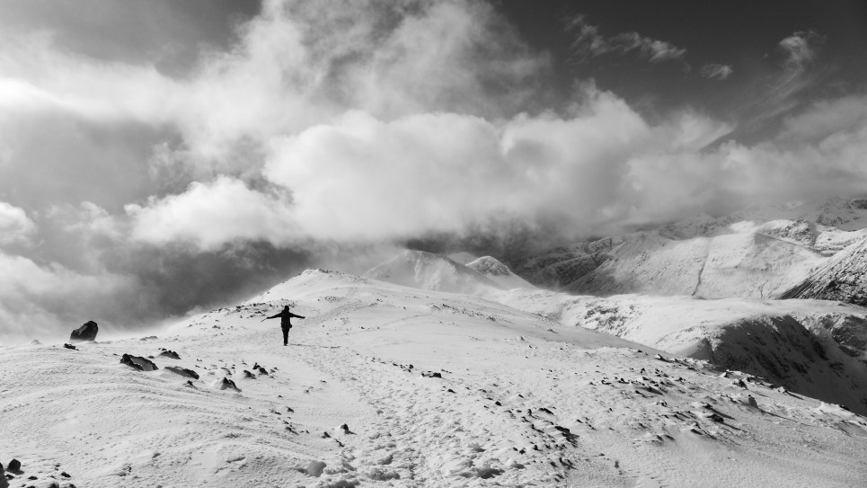 Heading down off the Buachaille