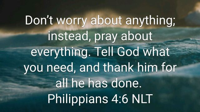Prayer, Worry, and Thankfulness