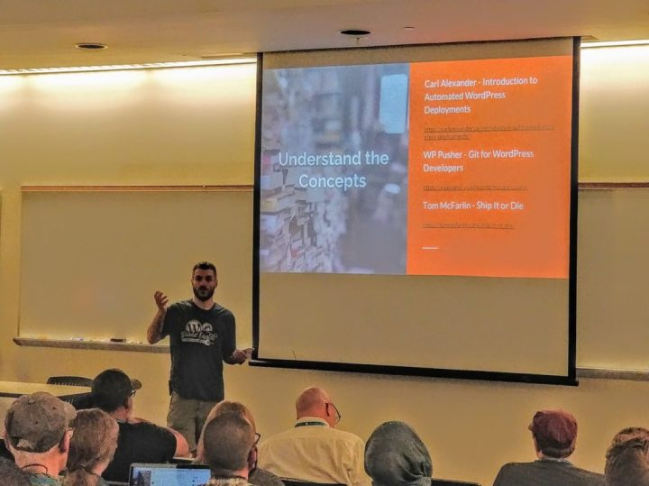 Me Speaking on DevOps and WordPress