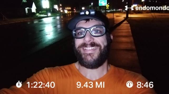9.4 Mile Combo Training Plan Run, With Some Rain On The Side