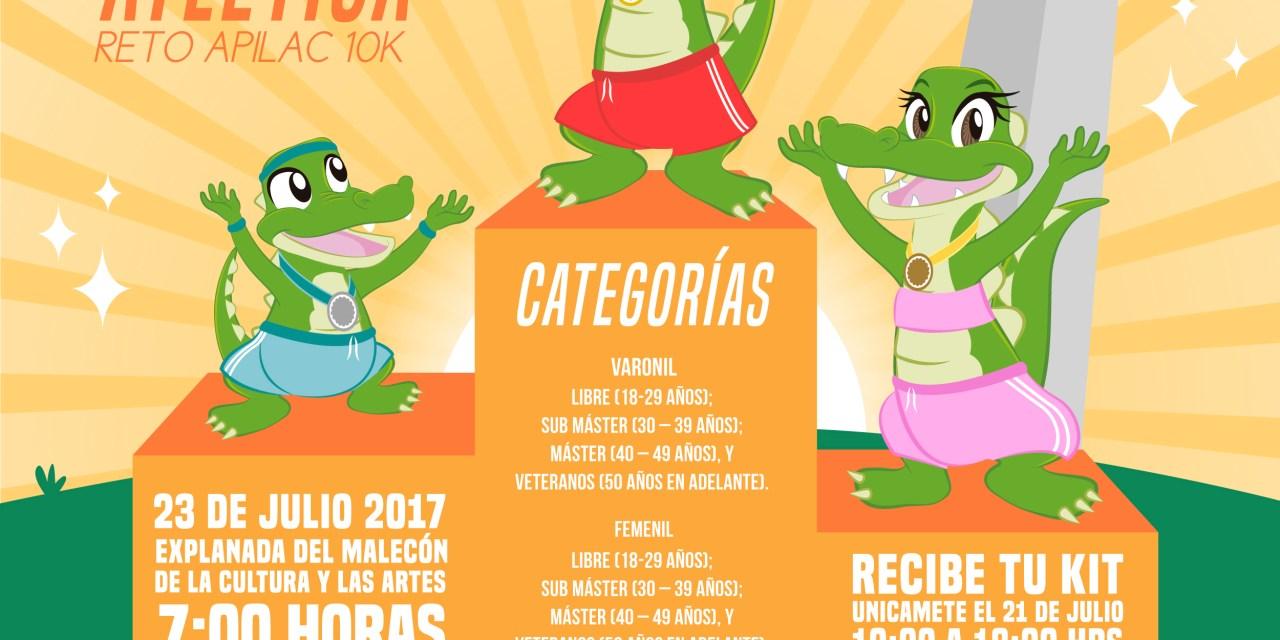 """PUERTO LÁZARO CÁRDENAS INVITA A LA CARRERA ATLÉTICA  """"RETO APILAC 10K"""""""
