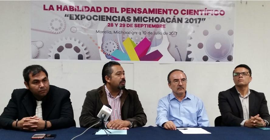 Convoca SICDET a niños y jóvenes a la Expociencias Michoacán 2017