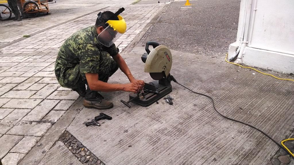Módulo de canje de armas se instala en el 82 Batallón