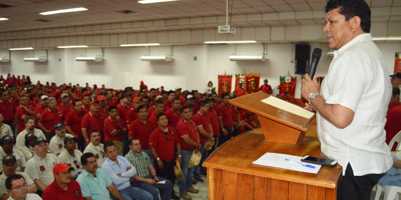 Felicita alcalde a mineros y a la empresa Arcelor por renovación contractual