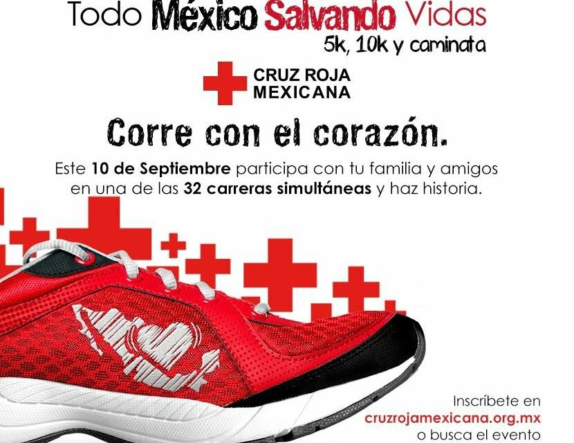 """En LZC Carrera nacional """"Todo México Salvando Vidas"""" de Cruz Roja"""