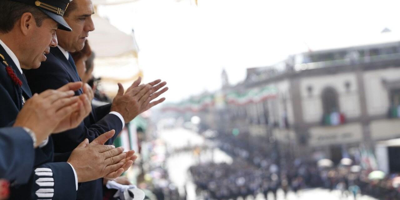 Refrenda ciudadanía confianza; inunda el Centro de Morelia en desfile cívico-militar