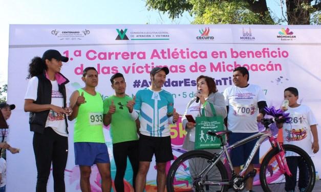 Gran participación en la 1ª carrera atlética en beneficio de las víctimas de delito